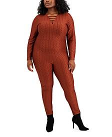 Trendy Plus Size Strappy Jumpsuit