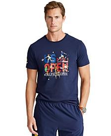 Men's US Open Custom Slim Fit Graphic T-Shirt
