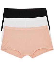 Women's 3-Pk. Limitless One-Size Boyshorts Underwear