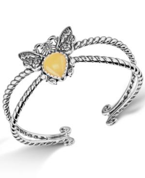 Jasper Gemstone Bee Cuff Bracelet