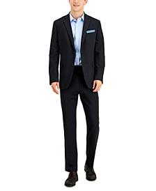 Men's Slim-Fit Gray Knit Suit