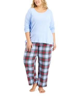 Matching Plus Size Mix It Tartan Family Pajama Set