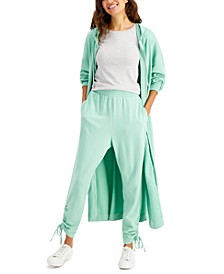 Earth Cotton Ruched-Hem Jogger Pants, Created for Macy's