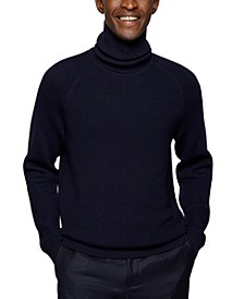 BOSS Men's Rollneck Virgin Wool Sweater