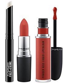 3-Pc. Prep + Powder Kiss Lip Set - Bold, Created for Macy's