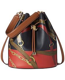 Andie Large Leather Drawstring Bag