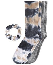 2 Pair Crew Socks & Scrunchie Set, Created for Macy's