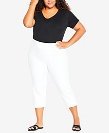 Plus Size Pull On Butter Crop Denim Jeans