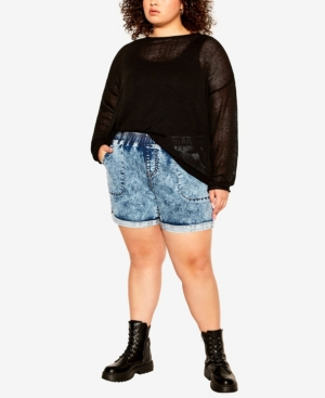 Plus Size Kendra Roll Up Shorts