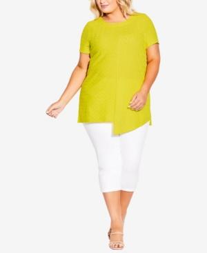 Plus Size Elle Texture Tunic Top