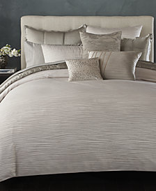 Donna Karan Home Reflection Silver Full/Queen Duvet Cover