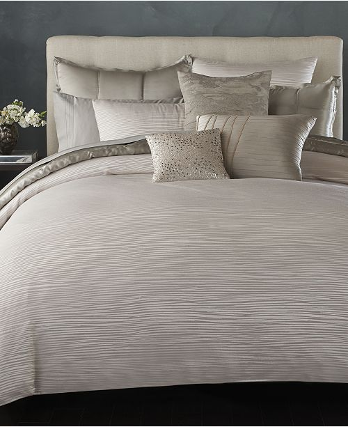 Donna Karan Home Reflection Silver King Quilt