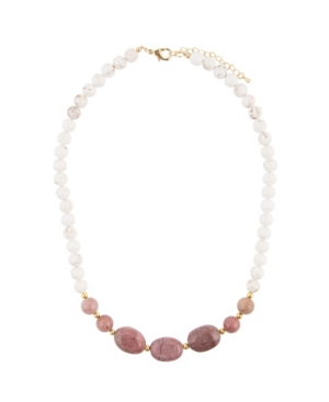 Women's Bloom Faux Stone One Row Beaded Necklace