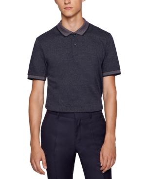 Boss Men's Organic-Cotton Slim-Fit Polo Shirt