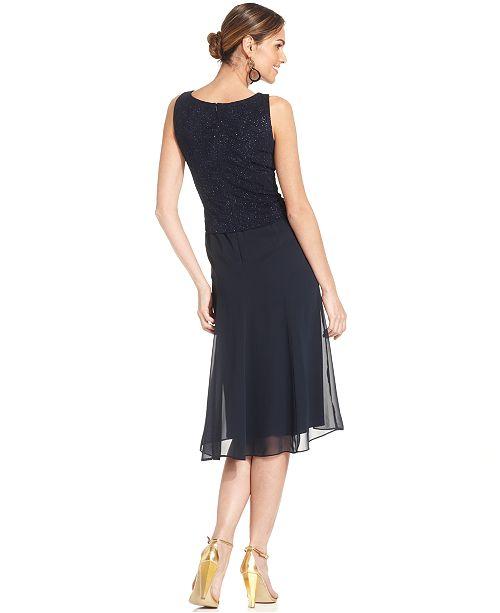 Alex Evenings Petite Jacquard A Line Dress And Jacket