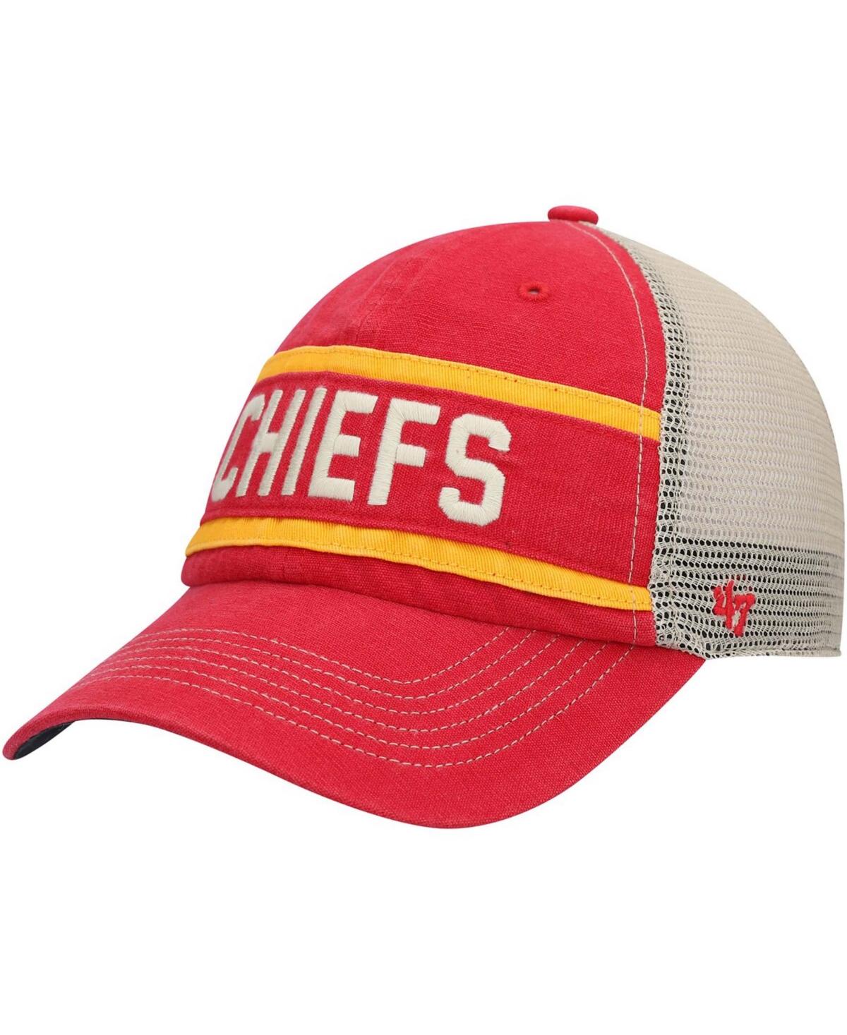 47 Brand Kansas City Chiefs Juncture Trucker Clean Up Snapback Cap