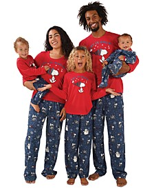 Matching Snoopy Let It Snow Family Pajamas Collection