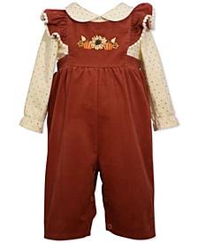 Baby Girls 2-Pc. Overalls & Shirt Set