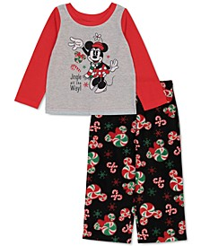 Matching Toddler Girls Minnie Mouse Holiday Family Pajama Set