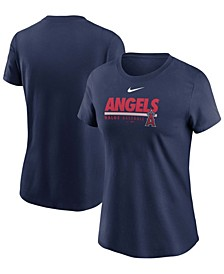 Women's Navy Los Angeles Angels Baseball T-shirt