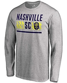 Men's Heather Gray Nashville SC Echo Long Sleeve T-shirt