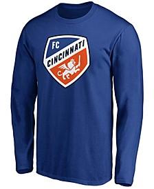 Men's Blue FC Cincinnati Primary Team Logo Long Sleeve T-shirt