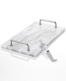 Serveware La Cucina Marble Cheese Board with Knife