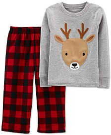 Baby Boys or Girls 2-Pc. Reindeer Pajamas