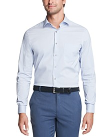 Men's Big & Tall Classic/Regular-Fit Stain Shield Performance Stretch Check Dress Shirt