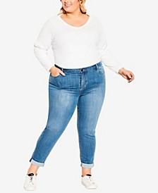 Plus Size Girlfriend Stretch Jeans