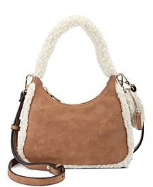 Zaree Faux Fur Shoulder Bag, Created for Macy's