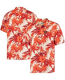 Men's Orange Chicago Bears Sport Harbor Island Hibiscus Camp Button-Down Shirt