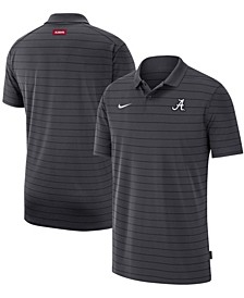 Men's Big and Tall Anthracite Alabama Crimson Tide 2021 Early Season Victory Coaches Performance Polo