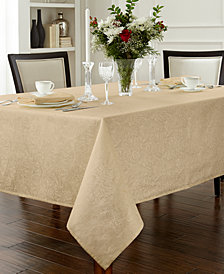 "Waterford Chelsea 70"" x 84"" Gold Tablecloth"