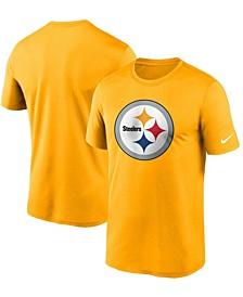 Men's Gold Pittsburgh Steelers Logo Essential Legend Performance T-shirt