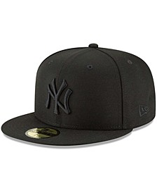Men's Black New York Yankees Primary Logo Basic 59FIFTY Fitted Hat