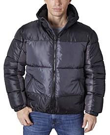 Men's Color Block Puffer Jacket