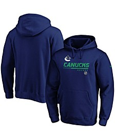 Men's Blue Vancouver Canucks Authentic Pro Core Collection Prime Pullover Hoodie