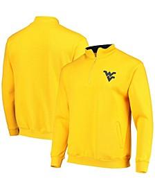 Men's Gold West Virginia Mountaineers Tortugas Logo Quarter-Zip Jacket