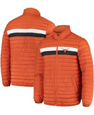 Men's Texas Orange Texas Longhorns Yard Line Quilted Full-Zip Jacket