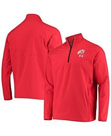 Men's Red Utah Utes Coaches Squad Quarter-Zip Jacket