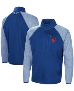 Men's Royal New York Mets Freestyle Transitional Raglan Full-Zip Jacket