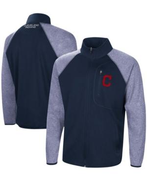 Men's Navy Cleveland Indians Freestyle Transitional Raglan Full-Zip Jacket