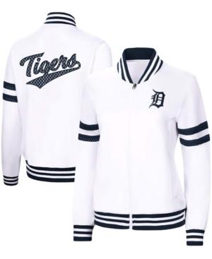 Women's White Detroit Tigers Pre-Game Full-Zip Track Jacket