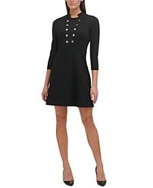 Button A-Line Dress