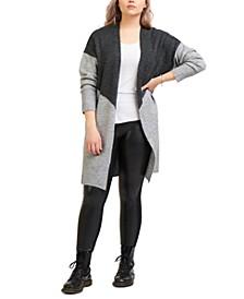 Plus Trendy Colorblocked Cardigan