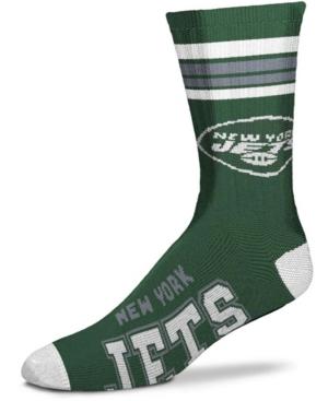 Men's New York Jets 4-Stripe Deuce Multi Crew Socks