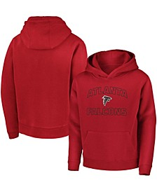 Youth Boys Red Atlanta Falcons Tie Breaker Pullover Hoodie