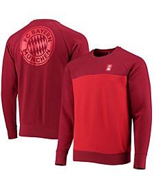 Men's Red Bayern Munich Graphic Raglan Pullover Sweatshirt