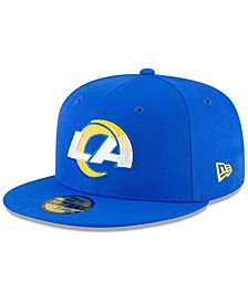 Men's Royal Los Angeles Rams Team Basic 59Fifty Fitted Hat